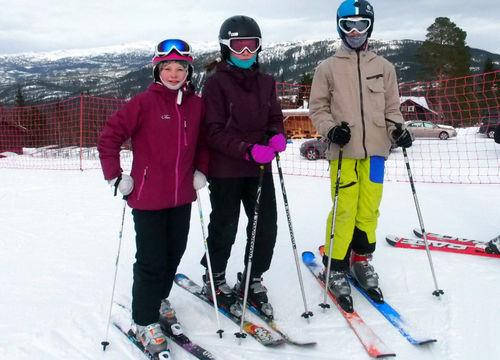 Speidere på alpintur