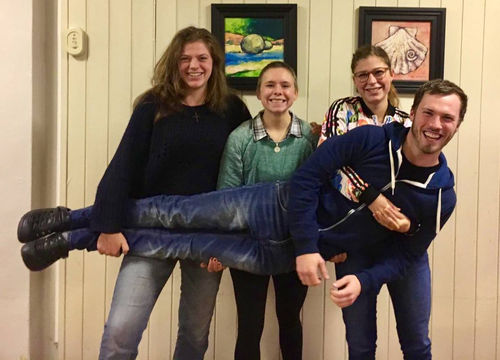 Marielle, Becci, Sibylle og Johannes på LIME