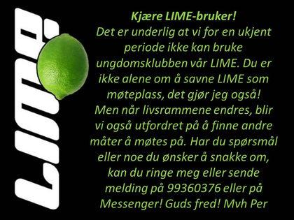 Kjære LIME-bruker!